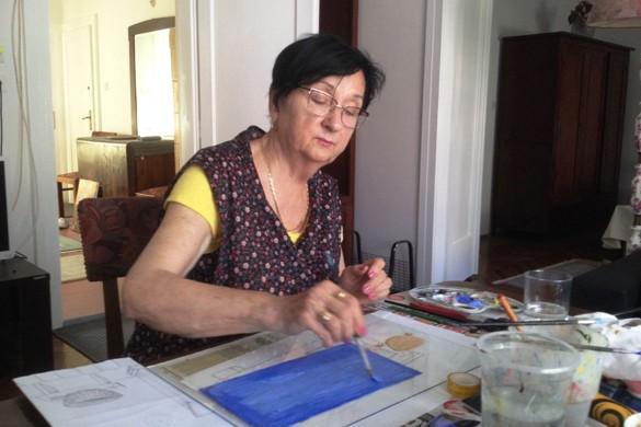На Подобовей колониї нашо уметнїки з Войводини и Горватскей