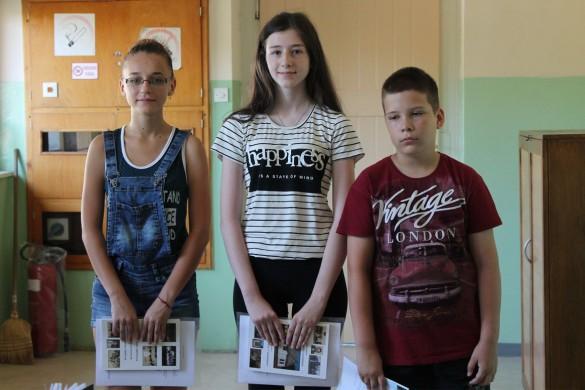 Припознаня найлєпшим школяром од Дружтва за руски язик