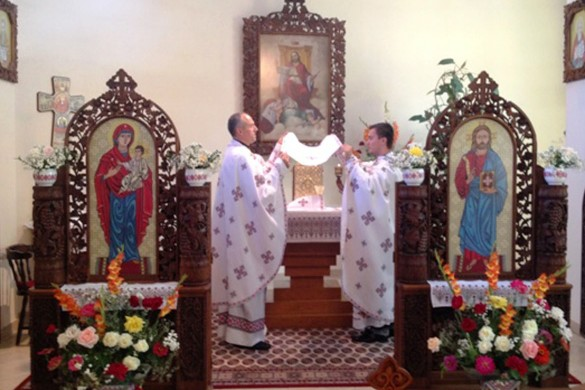 Перша Служба Божа нового райовоселского паноца