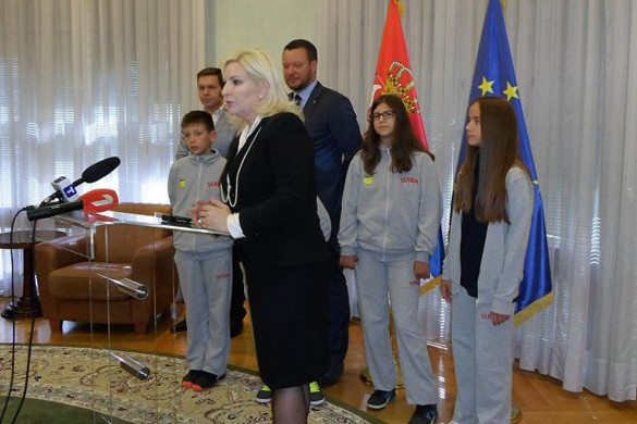 И Леонела Цифрич на приєму у Министерстве транспорту