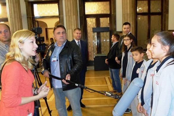 И Леонела Цифрич на приєму при предсидательови Сербиї