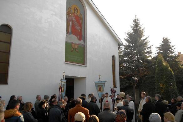 На Кирбай у Ґосподїнцох владика з Мадярскей и кресцини