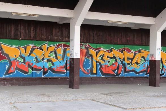 Ошвижени ґрафит на Автобускей станїци
