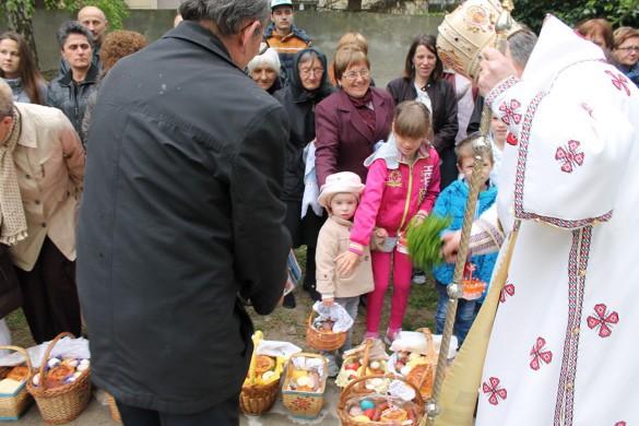 У Керестуре паски пошвецел владика Георгий