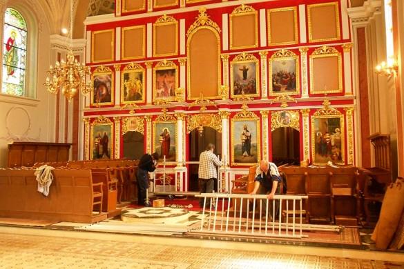 У дюрдьовскей церкви будзе поставене зогриванє и нови цегелки