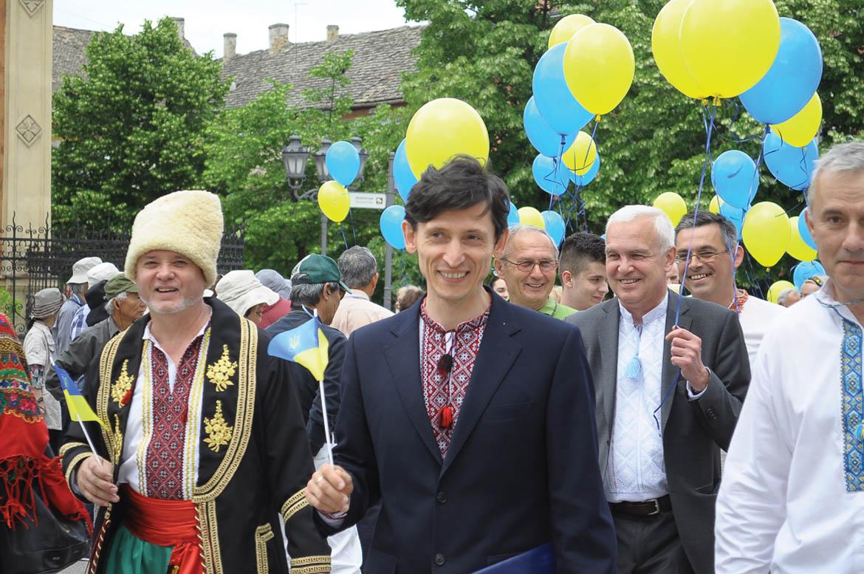 Олександр Александрович, амбасадор України у Сербиї, на Дньох українскей култури у Новим Садзе