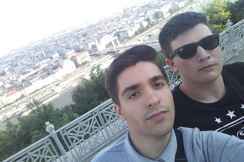 Иван зоз Матейом Бурчаком у Будимпешти