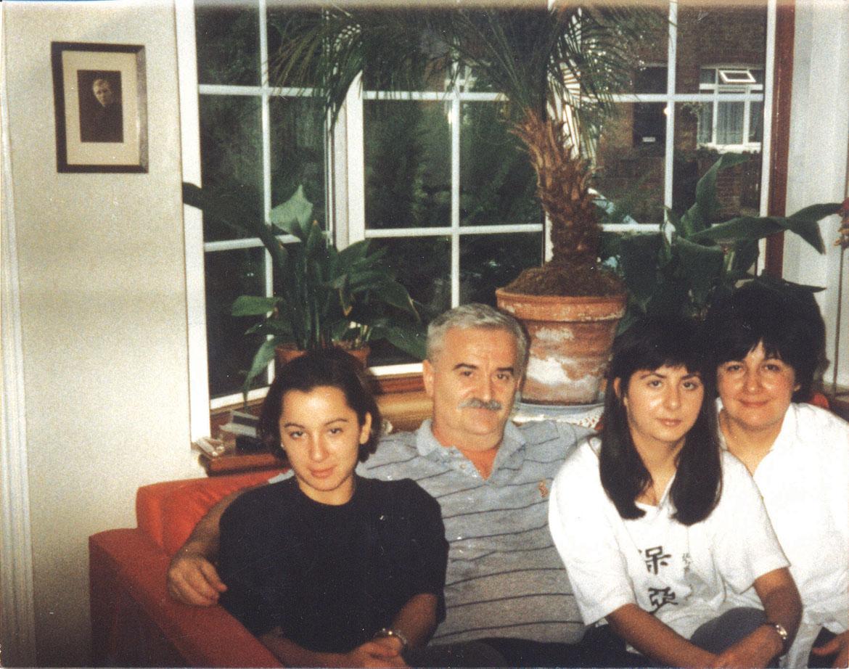 Наталия и Мелания з оцом Борисом и мацеру Марґариту